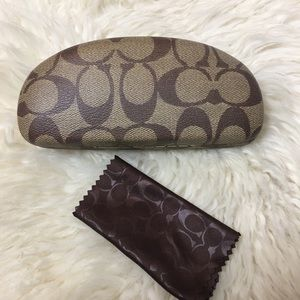 Coach Glasses Case and Cleaning Cloth